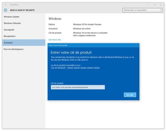 Windows 10 Clé produit