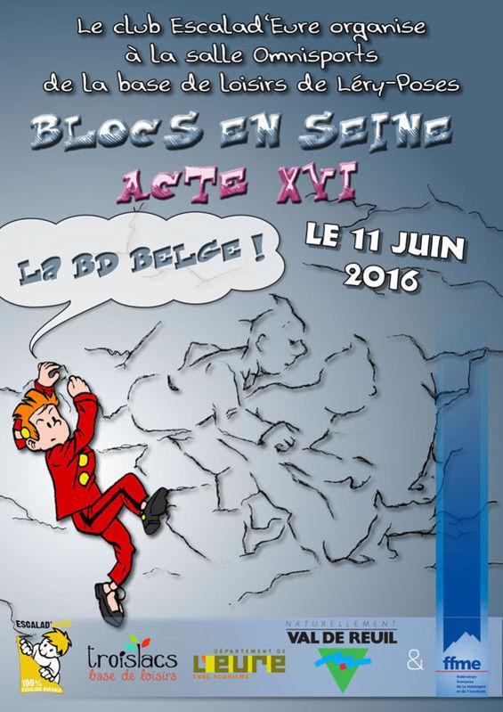 Affiche du bloc en Seine 2016