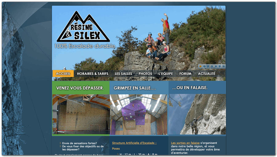 Club d'escalade de Resine&Silex http://resineetsilex.fr